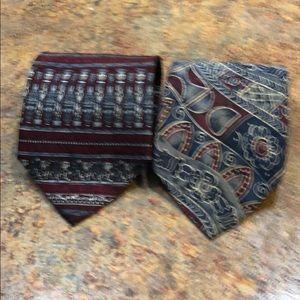 Set of two men's ties